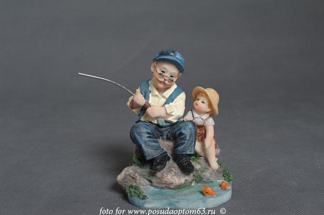 фигурки рыбаков и рисунки